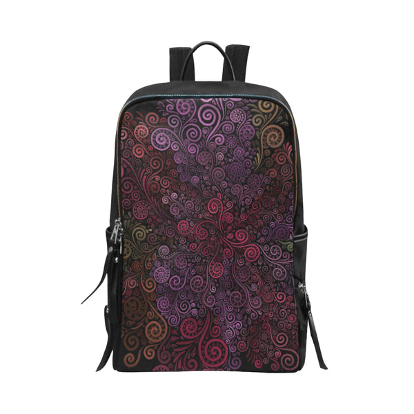 Psychedelic 3D Rose Unisex Slim Backpack