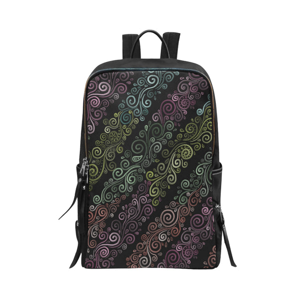 3D Psychedelic Pastel Rainbow Unisex Slim Backpack