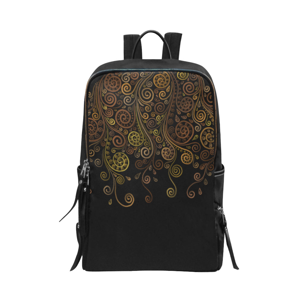 3D Psychedelic Ornate Swirl Unisex Slim Backpack