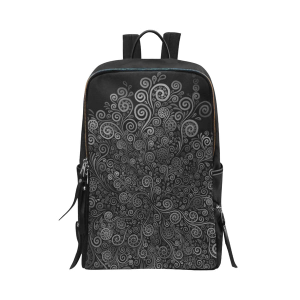 3D Psychedelic Black and White Rose Unisex Slim Backpack