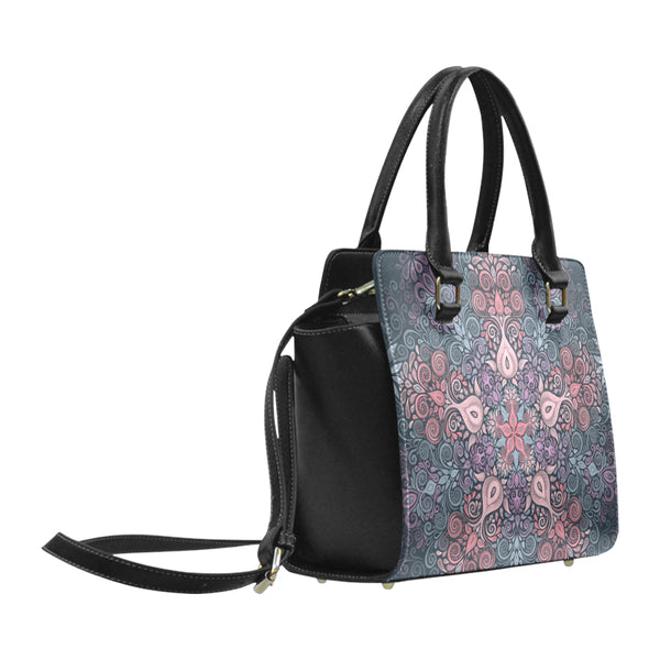Baroque Garden Watercolor Pastel Mandala Classic Shoulder Handbag