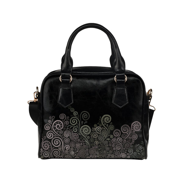 3D Psychedelic Soft Color Rose Shoulder Handbag