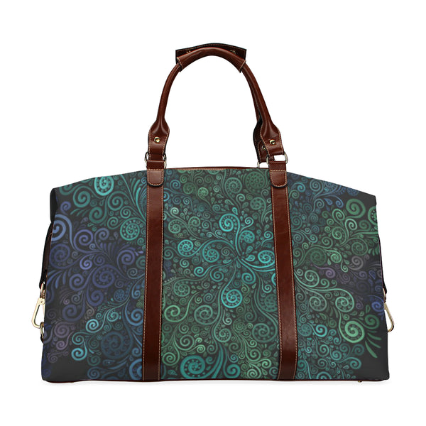 Turquoise 3D Rose Classic Travel Bag