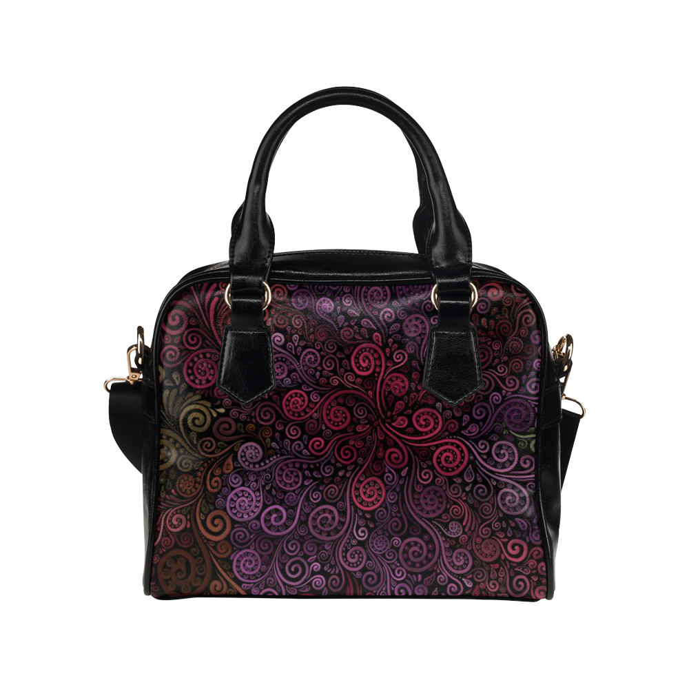 Psychedelic 3D Rose Shoulder Handbag