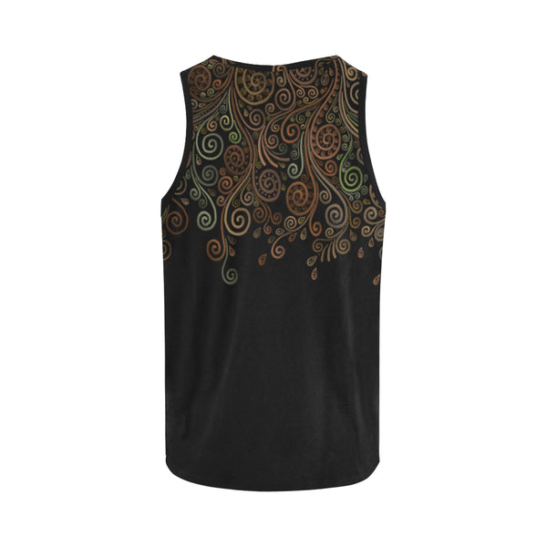 3D Psychedelic Ornate Swirl Tank Top for Women