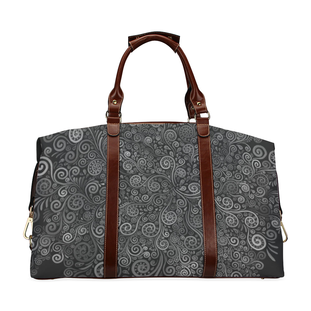 Black and White Rose Classic Travel Bag