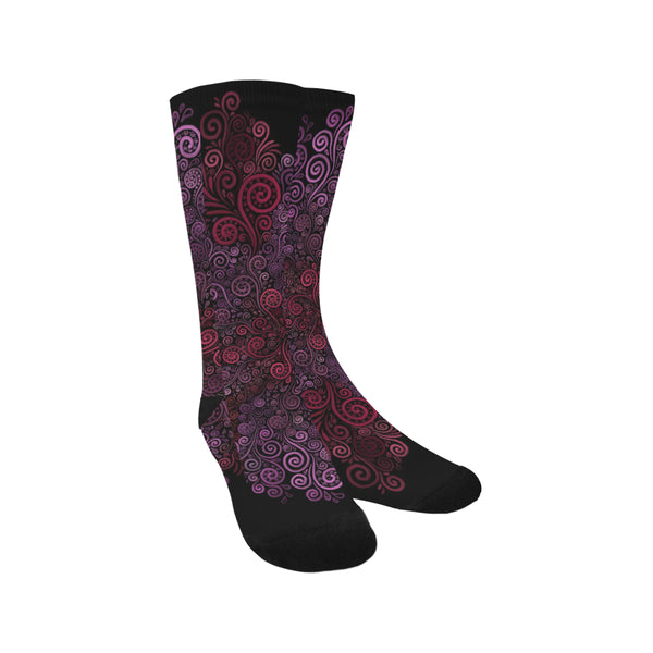 Psychedelic 3D Rose Trouser Socks