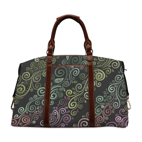 Psychedelic pastel rainbow Classic Travel Bag