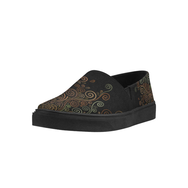 3D Psychedelic Ornate Swirl Canvas Shoes