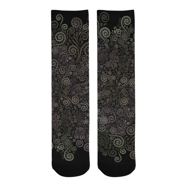 3D Psychedelic Soft Color Rose Trouser Socks