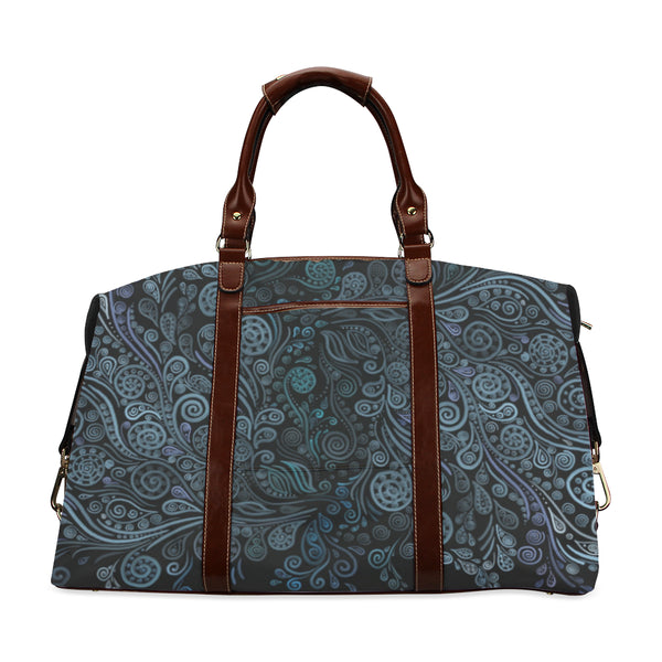 3D Ornaments Psychedelic Blue Classic Travel Bag