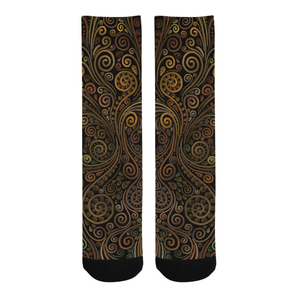 3D Psychedelic Ornate Swirl Trouser Socks