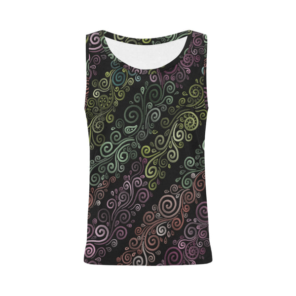 3D Psychedelic Pastel Rainbow Tank Top for Women