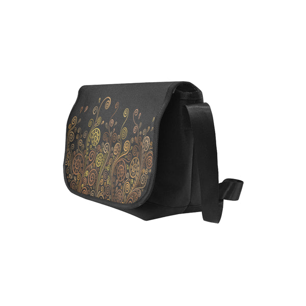 3D Psychedelic Ornate Swirl Messenger Bag