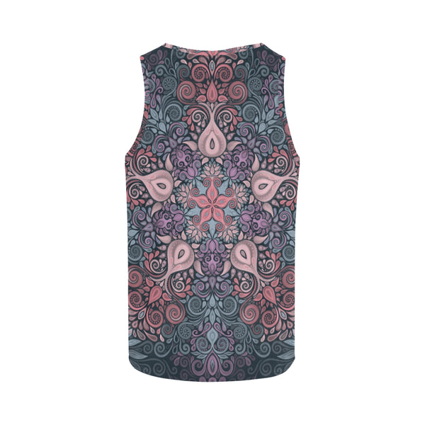 Baroque Garden Watercolor Pastel Mandala Tank Top for Women