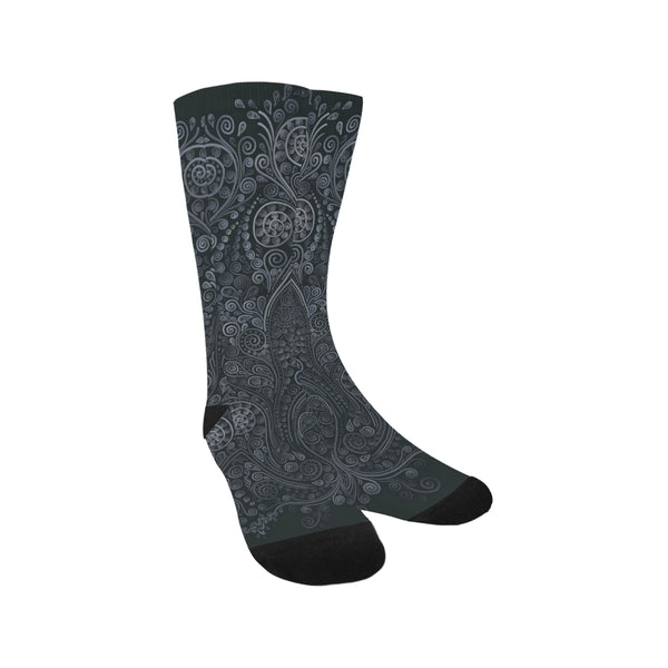Soft Blue 3D Ornamental Trouser Socks