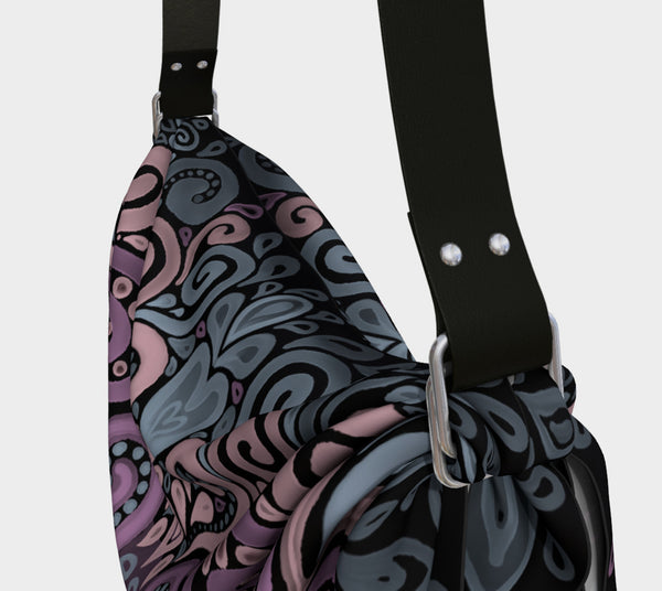 Ornate Watercolor Bohemian Pattern Origami Tote
