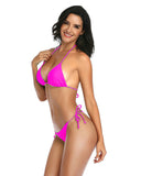 Fushcia String Thong Bikini Set