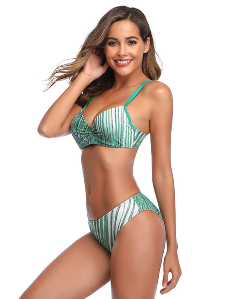 Tropical Printing Bikini Swimwear for Women