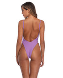 High Cut One Piece Swimsuit Full Back One Piece Bathing Suits for Women