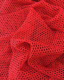 Red Fishnet Bikini Crop Top G String Bottom