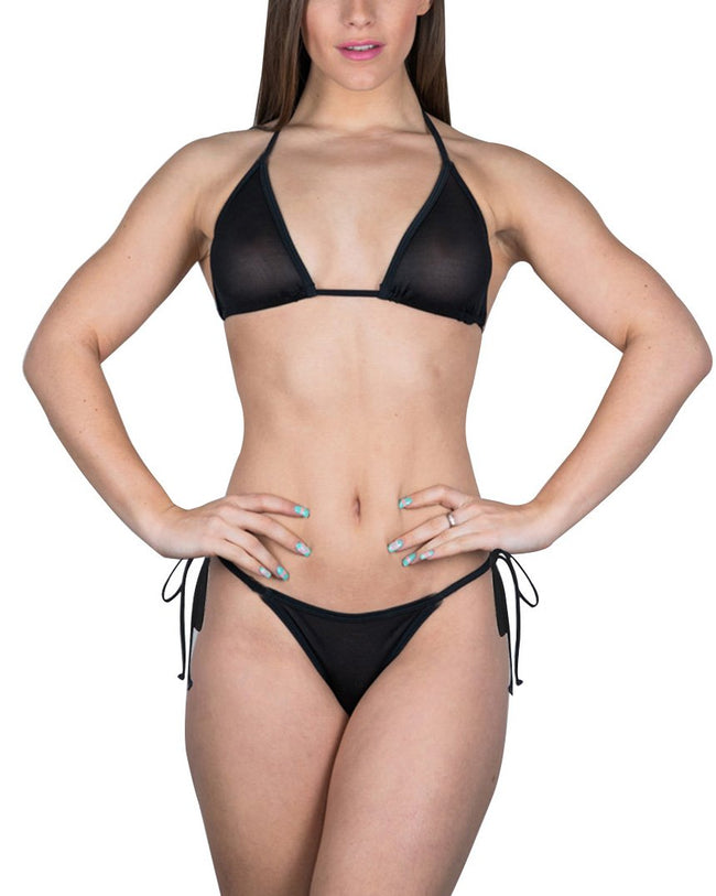 Black See Thru Bikini Sheer Micro Bikinis Mini Brazil G string