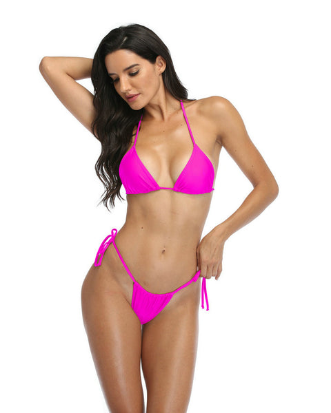 Bikini Thong Swimsuit for Women In Fushcia