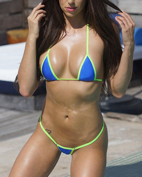 Blue Green Mini Micro Bikini