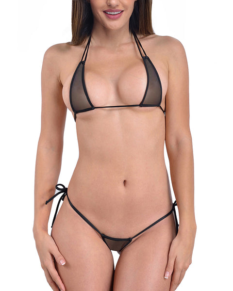 Black See Through Micro Bikini