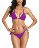 Purple Side Tie Thong  Bikini