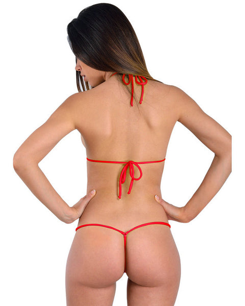 Red White Mini String Bikini