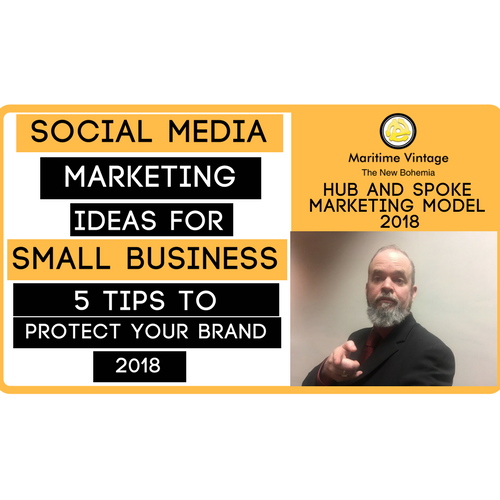 Social Media Marketing Ideas For Small Business - 5 Tips To Protect Your Brand (2018) {Click On Infographic for Video Tutorial}