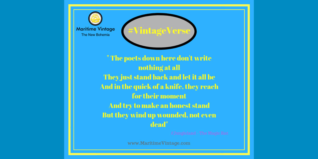#VintageVerse | 💚 The poets down here don't right nothing at all…they just stand back and let it all be | Poetry in Branding 💚