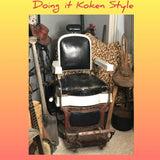 Vintage Koken Barber Chair - Doing it Koken Style