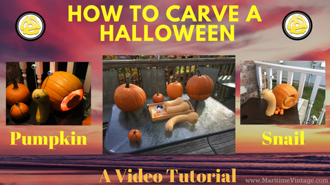 How To Carve A Halloween Pumpkin That Looks Like A Snail (Video Tutorial)  A Video Log Tutorial on How To Carve a Halloween Snail Pumpkin (Kids Crafts Made Easy) Please Follow Us on YouTube  A DIY Project Idea with Detailed steps and Lessons Learned |  Project Complexity: Simple (but a carving knife is required so Adult help is required | decorations | Fall |Gardening | Landscaping  Please Send us any Project Questions in the comments below || Also send us pictures of your completed Snail Carving Halloween Project |  Follow us on Pinterest: https://www.pinterest.ca/MaritimeVint... Detailed Home Decor Project Tutorials and Project Design Elements: https://www.MaritimeVintage.com  Follow Us On Instagram at https://www.instagram.com/maritimevintage/  #how to carve a halloween pumpkin #how to carve a halloween snail pumpkin #a diy #tutorial #pumpkin #snail #carving #halloween #fall #garden #project #project,#kids #diy #do it yourself #decorations #ideas #tutorial #lessonslearned #how to #vlog #pinterest #how to run a pinterert business #search engine #craft #arts and crafts #kids #project #ideas #bored children #bored kids #fall #diy #project #ideas # halloween