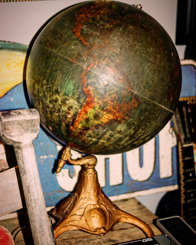 A Vintage Cast Iron Globe makes a Great industrial or Steampunk Decor Focal Point Antique #castiron #metallic #globe🌎 #vintageglobe #globe #globe_visuals #globetrotters #globes #globe_images #decorative #diydecor #diydecorating #diydesign #diyproject #industrialdecor #industrialstyle #industrialfarmhouse #industrialfurniture #industrialart #industrialdesigner #steampunk #steampunkstyle #steampunkart #steampunkgirl #metalart #antiqueart #vintageart