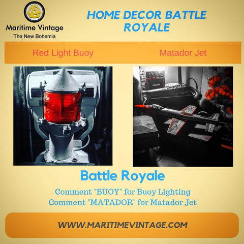 Battle Royale Decor Style fight to the death Buoy matador jet tin toy