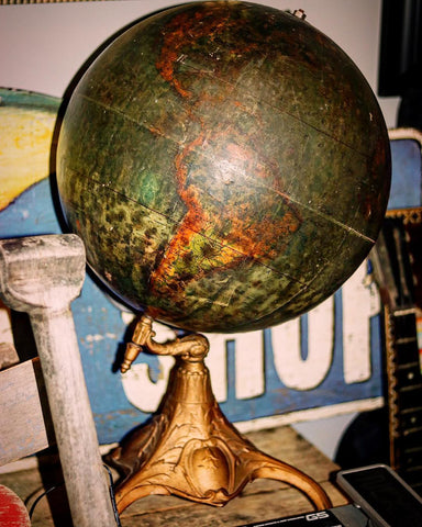 How to decorate using a Steampunk Decor theme Vintage Steampunk Globe