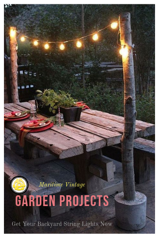 DIY Garden Fiery String Light Project