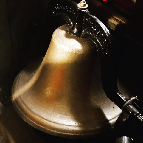 www.MaritimeVintage.com Church Bell Train Bell School Bell vintage decor tips hacks how to