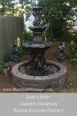 How to Install A Five Tier Garden Water Fountain Blog Project