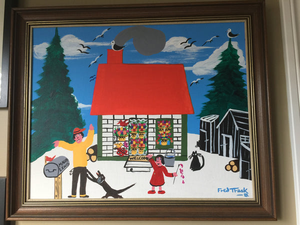 Fred Trask Folk Art Painting of Maude Lewis House