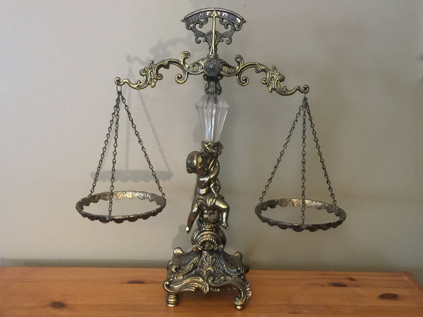 Vintage Cherub Scales of Justice Home Decor