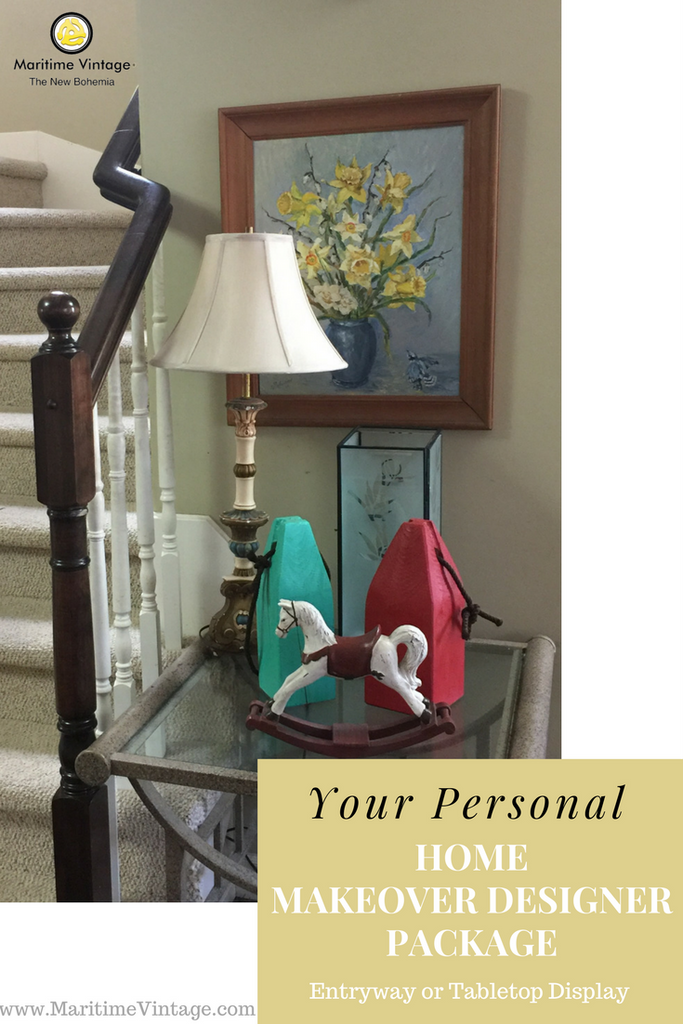 Your Personal Home Designer Makeover | Entryway Table Top Package