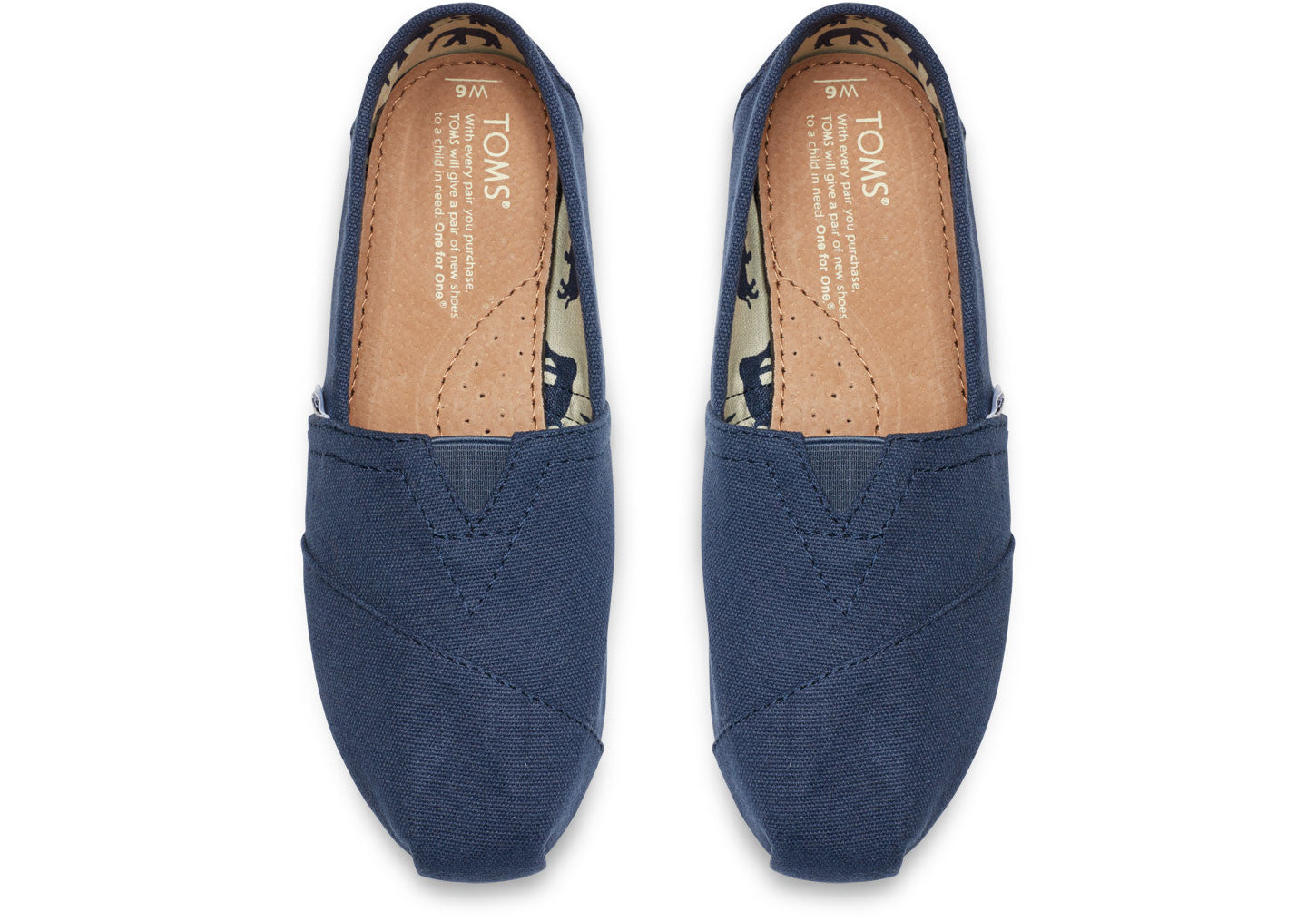 552497cdbf9d Toms Women s Navy Classic Alpargata - Foot Paths Shoes