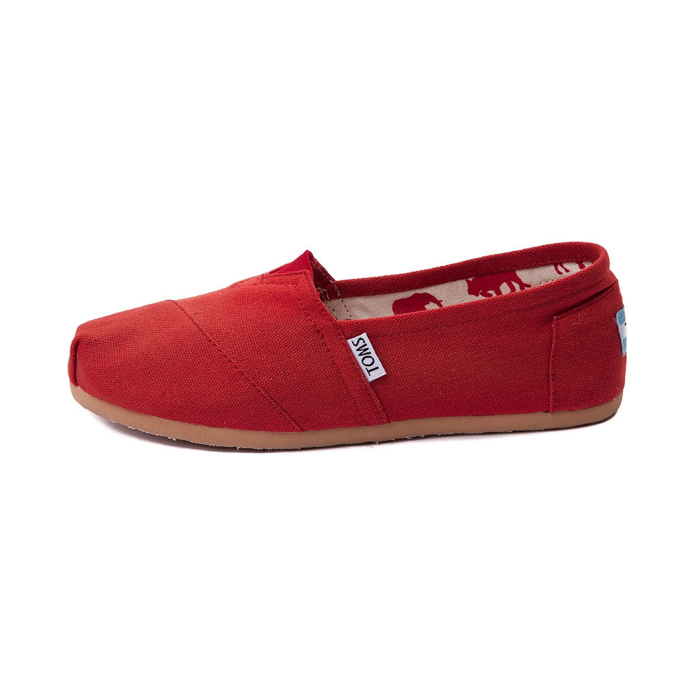 5da4fdb9d24 Toms Women s Red Classic Canvas Slip-On - Foot Paths Shoes