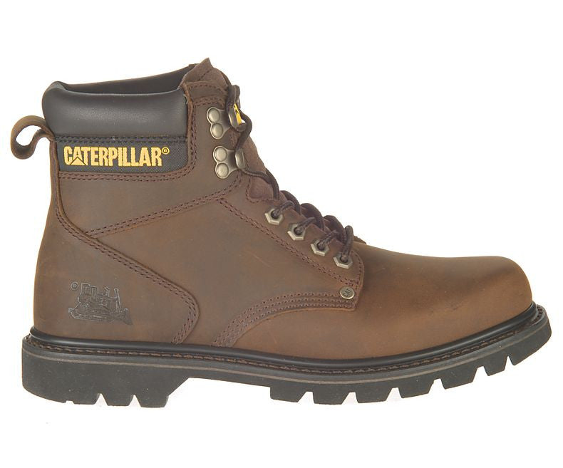 Caterpillar Mens Dark Brown Second Shift Steel Toe Work Boot Foot