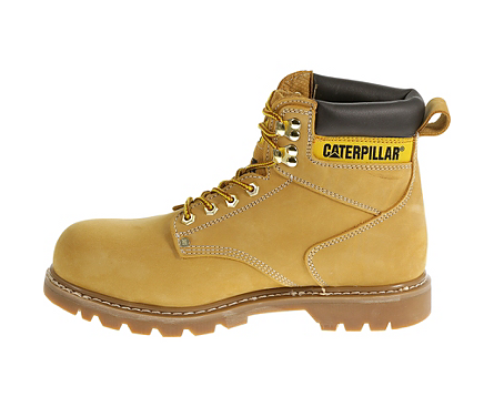 face97696db Caterpillar Men's Honey Nubuck Second Shift Steel Toe Work Boot