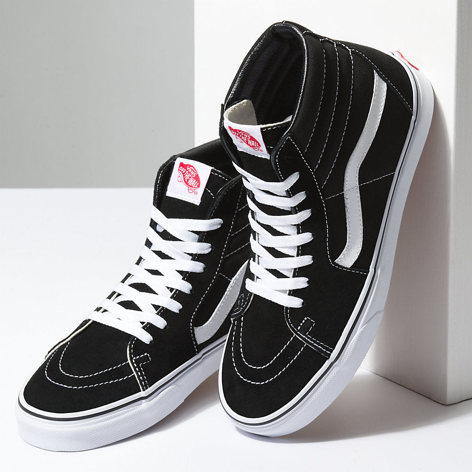 cc489f1b24 Van s Unisex SK8-Hi Suede Black White - Foot Paths Shoes