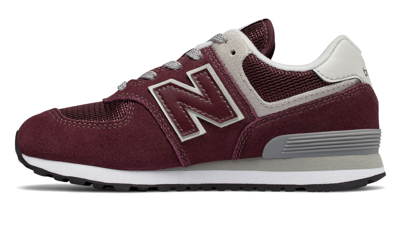 437440378c6d2 New Balance Grade School Shoe Burgundy with Grey 574 Core - Foot Paths Shoes